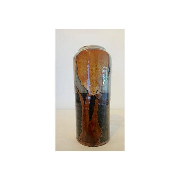 Modernist Abstract Studio Pottery Vase For Sale - Image 4 of 11