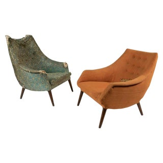 Craft Associates His & Her Lounge Chairs- a Pair For Sale