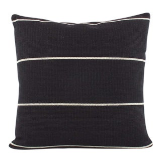 """Modern Black and Ivory Striped Decorative Pillow Cover - 18""""x18"""""""