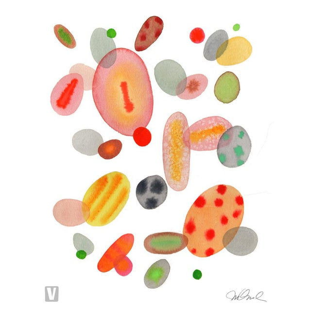 """Abstract Color Cells, Giclee Print 16x20"""" Watercolor For Sale - Image 3 of 3"""