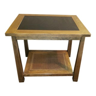 A Brandt Co. Ranch Oak Living Room Side Table For Sale