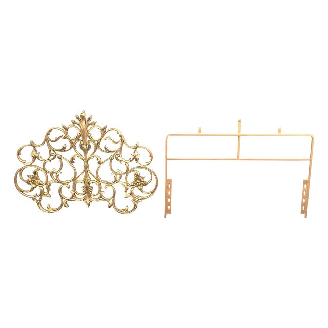 Twin Gold Head Boards & Frames - 4 Pieces - Image 1 of 6