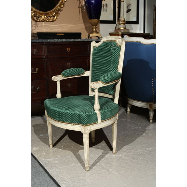 French Louis XVI Style Armchairs - A Pair - Image 2 of 6