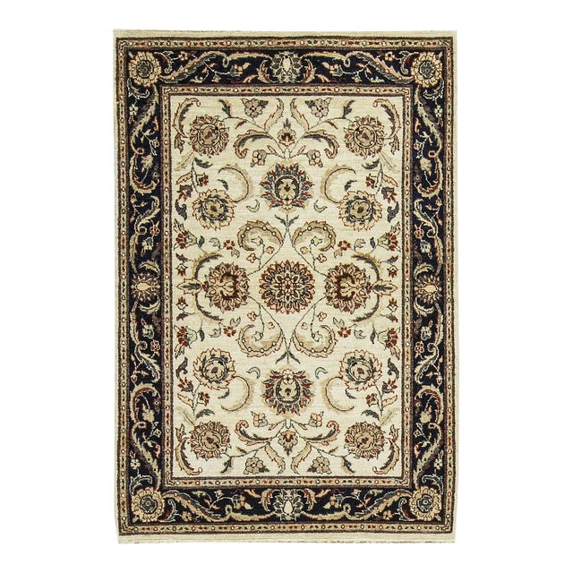 "Traditional Hand Woven Rug - 4' x 5'10"" For Sale"