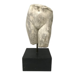 Plaster Figure Sculpture on Stand For Sale
