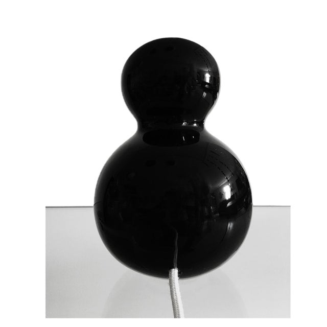 Italian Ciclope Cermaic and Led Reading Lamp Manufactured in Italy - Black For Sale - Image 3 of 4