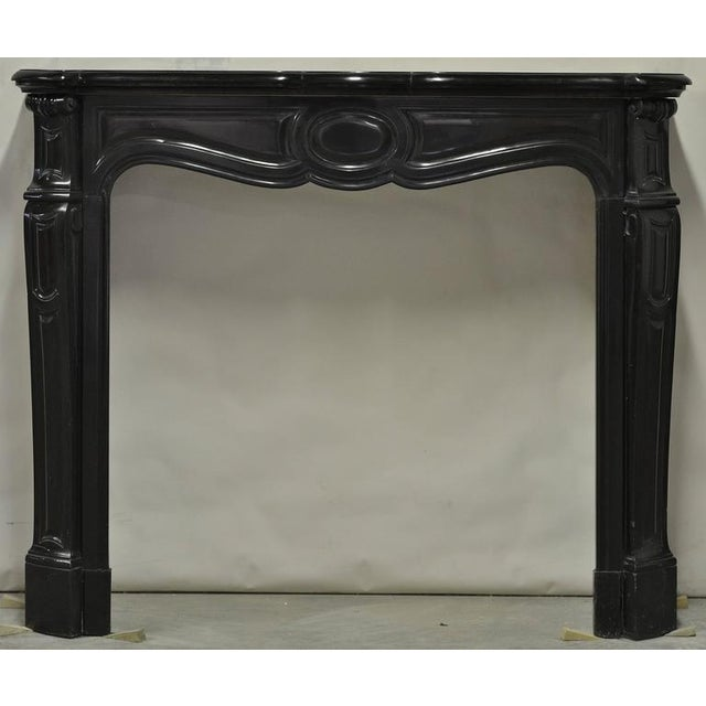 Mid 19th Century Pair of Marble Antique French Pompadour Style Fireplace Mantels For Sale - Image 5 of 9