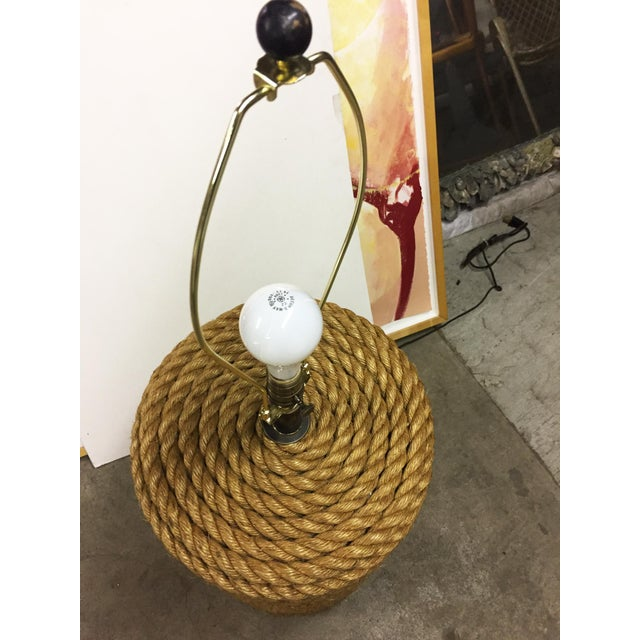 2010s Oversized Rope Base Table Lamp For Sale - Image 5 of 6