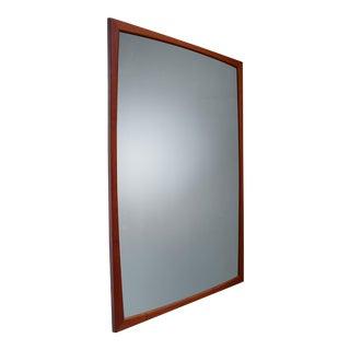 Large Aksel Kjersgaard rectangular teak wall mirror, Denmark, 1960s For Sale