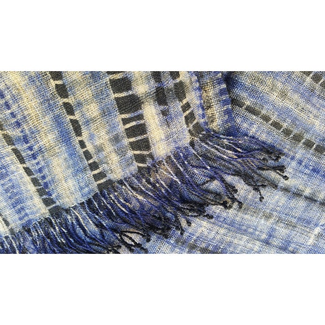Tribal Tie Dye Hemp Table Runner - Image 5 of 5