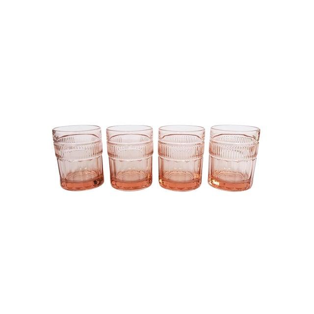 Vintage Anchor Hocking Pink Depression Glasses - Set of 4 For Sale