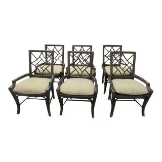 Lane Venture Rattan Chairs- Set of 6 For Sale