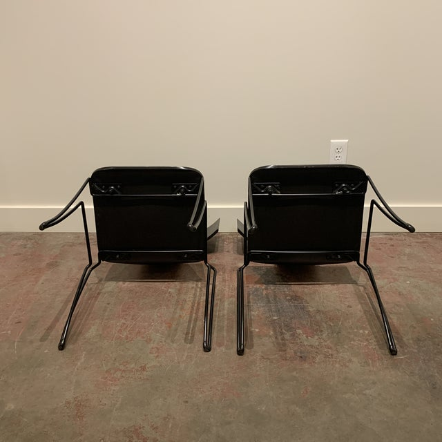 1960s 1960s Vintage Black Anziano Chairs by John Hutton for Donghia - a Pair For Sale - Image 5 of 9