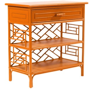 Chippendale End Table - Orange For Sale