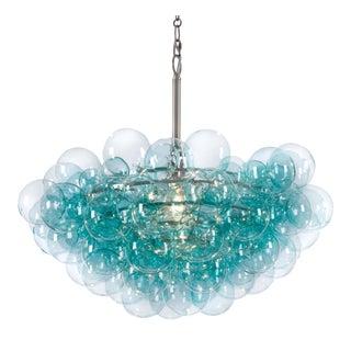 Bubbles Chandelier in Aqua For Sale