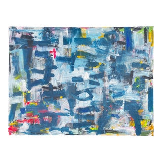 """""""Maybe So, Maybe Not"""" Contemporary Abstract Mixed-Media Painting by Sarah Trundle For Sale"""