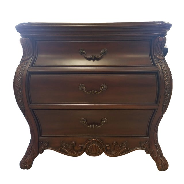 Victorian King Post Bed Nightstand - Image 1 of 8