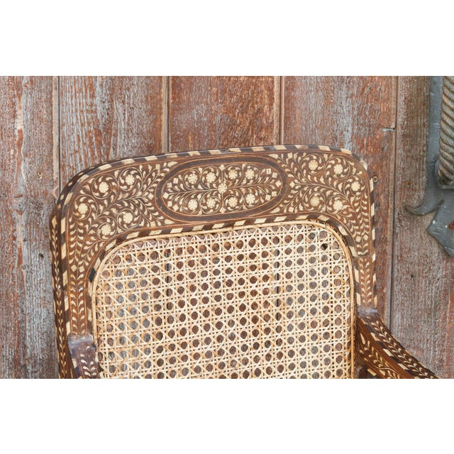Bone Inlay Colonial Arm Chairs, Pair For Sale In Los Angeles - Image 6 of 11