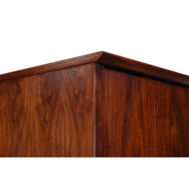 Orange Intense Matching Pair of Arne Vodder Cabinets For Sale - Image 8 of 12