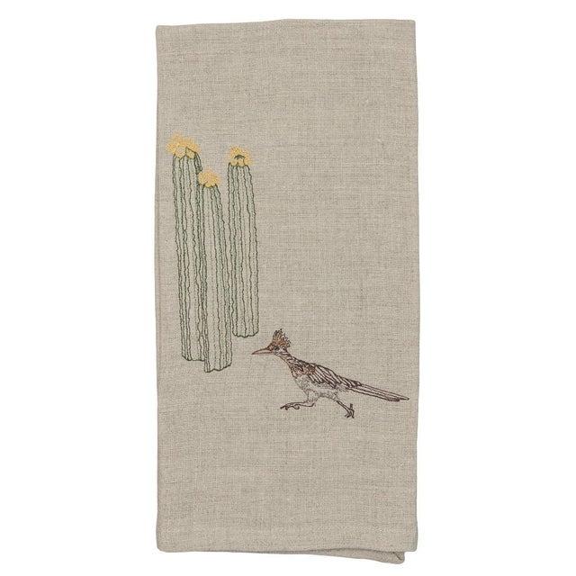 Roadrunner and Organ Pipe Cacti Tea Towel For Sale - Image 9 of 9
