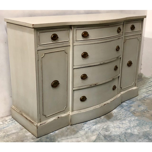 1950s Hand Painted Sideboard by Brickwede Bros. For Sale - Image 5 of 7