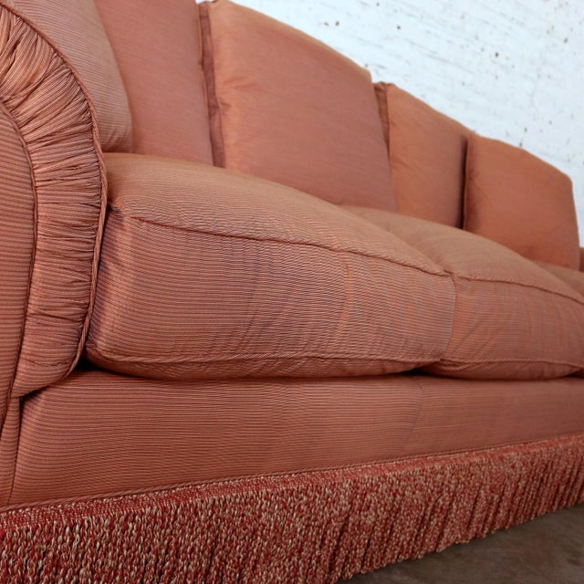Baker Sofa Lawson Style From the Crown and Tulip Collection Terracotta For Sale - Image 9 of 13