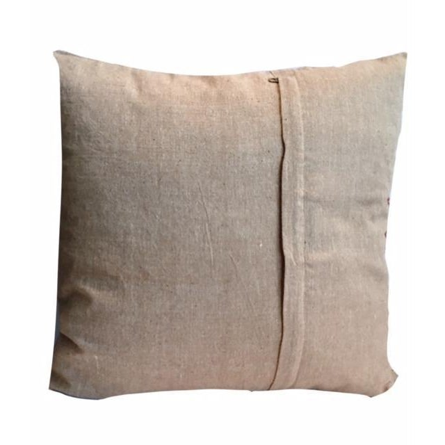 Boho Chic Swati Gold Embroidered Pillow For Sale - Image 3 of 3