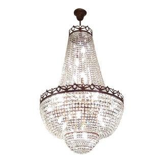 Montgolfiè Antique Lok Crystal Chandelier Empire Sac a Pearl Lamp Chateau Lustre For Sale