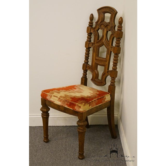 Jacobean Stanley Furniture Jacobean Style Dining / Side Chair For Sale - Image 3 of 13