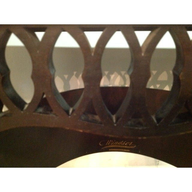 1924 Ebony Windsor Sewing Table - Image 8 of 9