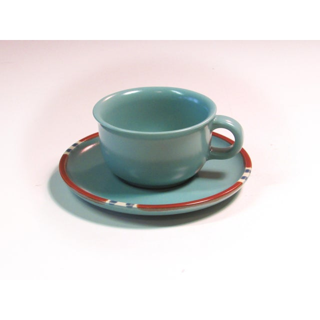 Turquoise Dansk Mesa Dishes, Cream & Sugar, and Platter - Set of 4 - Image 4 of 6