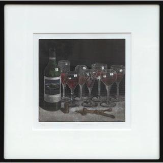 "Byron Bratt, ""In Vino Veritas"", Still Life With Wine For Sale"