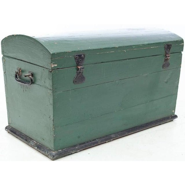 Gustavian (Swedish) 19th Century Swedish Hand Painted Wooden Wedding Trunk Chest For Sale - Image 3 of 7