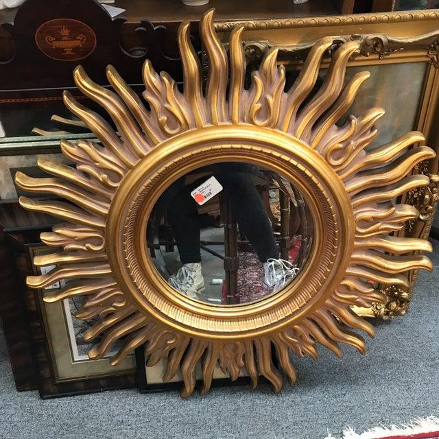 Modern Gold Starburst Mirror For Sale - Image 5 of 5