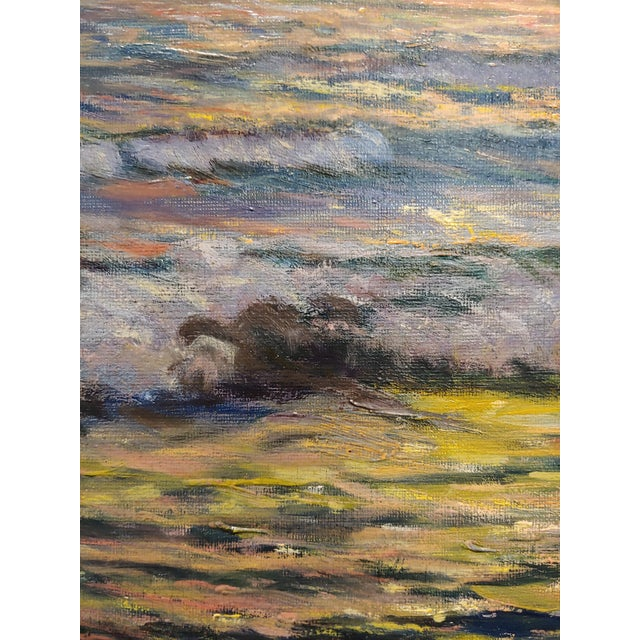 "Vartan Mahokian ""Seascape Magic Sunset"" Oil Painting C.1920s For Sale In Los Angeles - Image 6 of 11"
