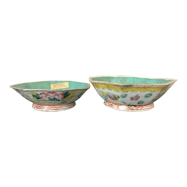Antique Chinese Export Porcelain Bowls - a Pair - Image 1 of 11