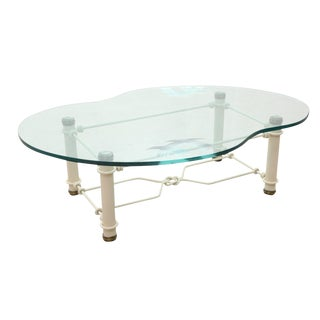 Hollywood Regency Style Glass Coffee Table