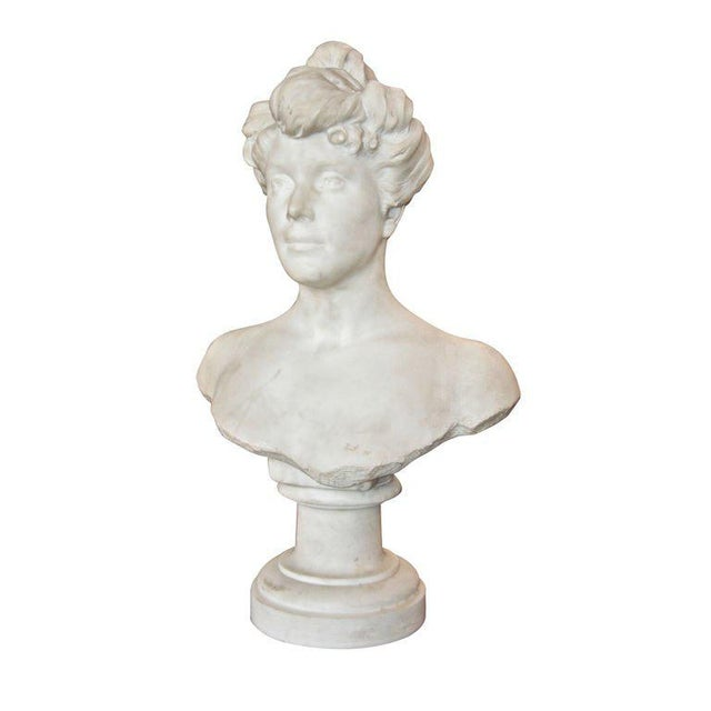 """""""Liberty"""" Bust of a Woman, 1905 For Sale In Los Angeles - Image 6 of 6"""