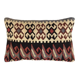 "Reclaimed Vintage Kilim Pillow | 12"" X 20"" For Sale"