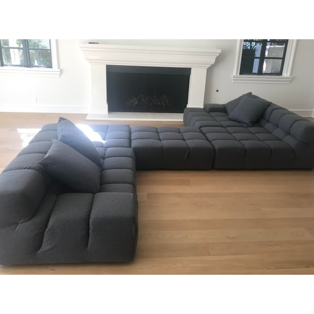 Like-new condition. Decorative pillows included for free! This playful yet sophisticated sectional just welcomes a good...