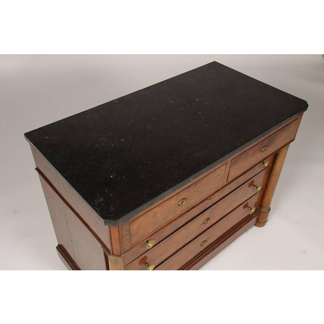 Wood French Empire Mahogany Marble Top Commode, Circa 1870 For Sale - Image 7 of 8
