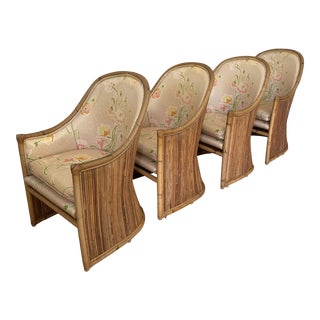 Vintage Bamboo Chairs - Set of 4 For Sale