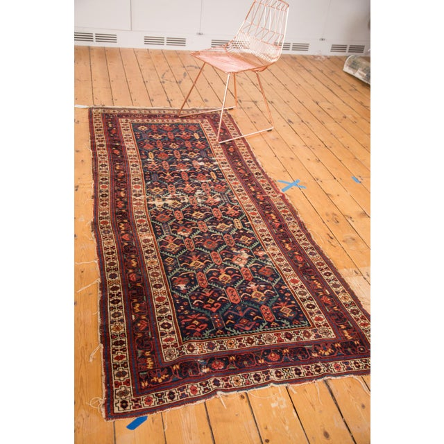 """Shabby Chic Antique Caucasian Rug Runner - 3'5"""" x 7'10"""" For Sale - Image 3 of 8"""