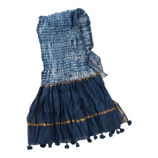 Sel Hand Dyed Indigo Table Linen For Sale