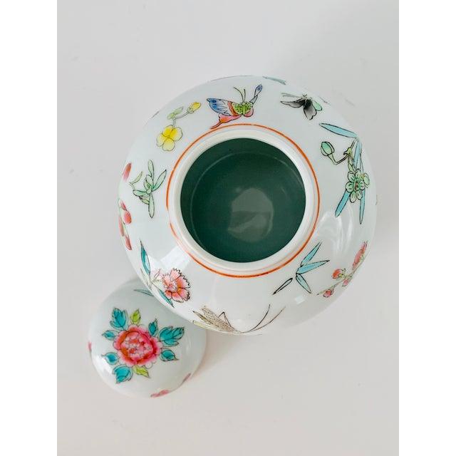 Vintage Chinese Floral Ginger Jar For Sale - Image 9 of 11