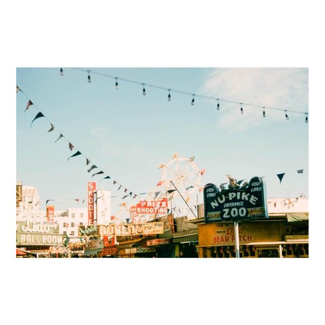 Vintage 1950s Long Beach California Pier Photograph Print For Sale