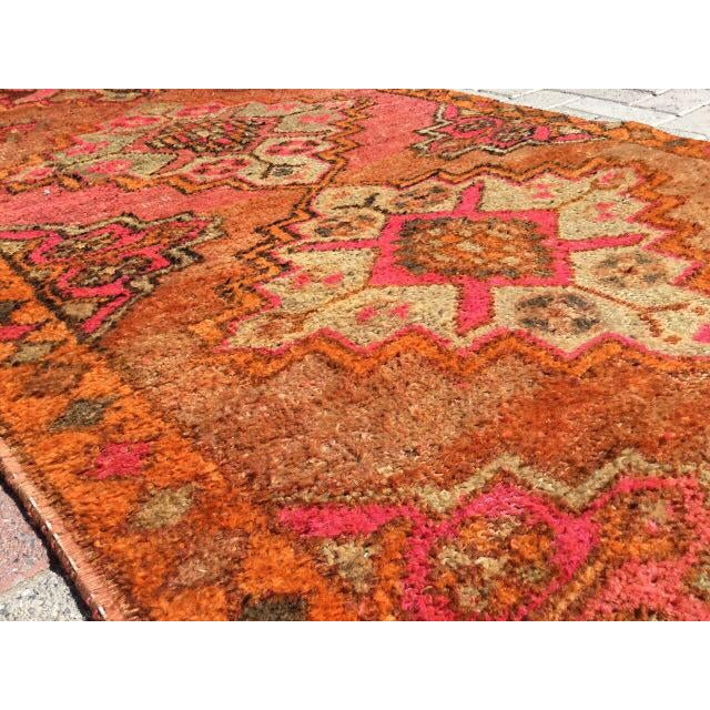 Vintage Turkish Runner Rug - 3′6″ × 10′10″ - Image 5 of 7