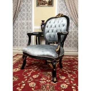 French Style Seated Blue Armchair Preview