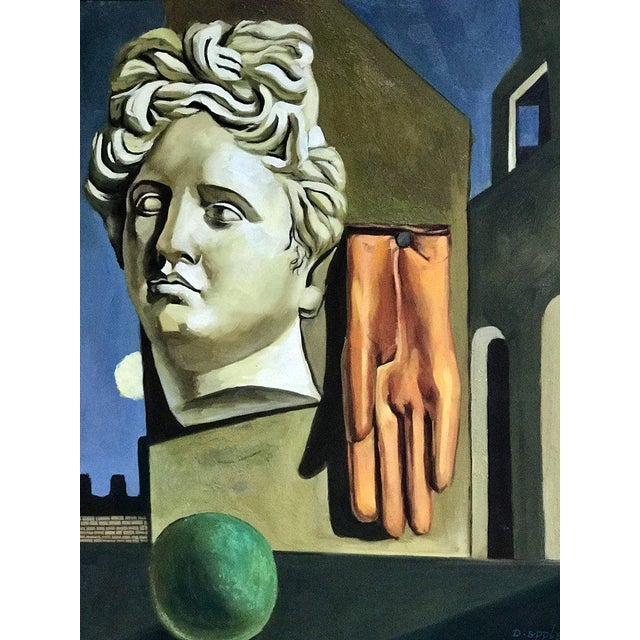 "Mid-Century Modern After Gorgio De Chirico ""The Song of Love"" For Sale - Image 3 of 10"