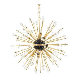 Contemporary Gilt Metal Sputnik Chandeliers For Sale